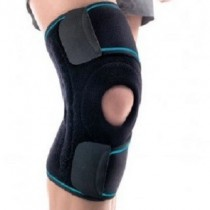 Neoprene adjustable size knee support with lateral stabilisers ACN802
